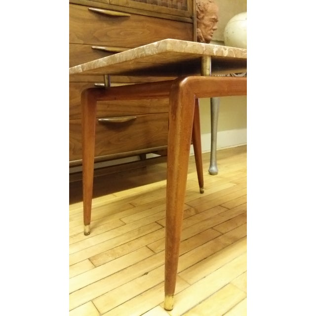 Mid Century Italian Floating Marble Top Table - Image 4 of 10