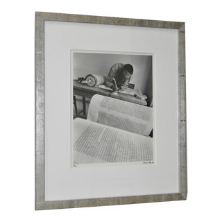 "1971 Micha Bar-Am ""Torah Scribe, Jaffa"" Original Signed Photograph"