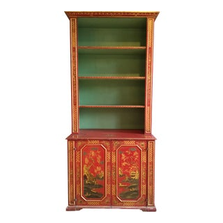 19th-C. English Chinoiserie Cabinet