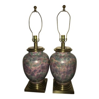 Frederick Cooper Multicolor Table Lamps - A Pair