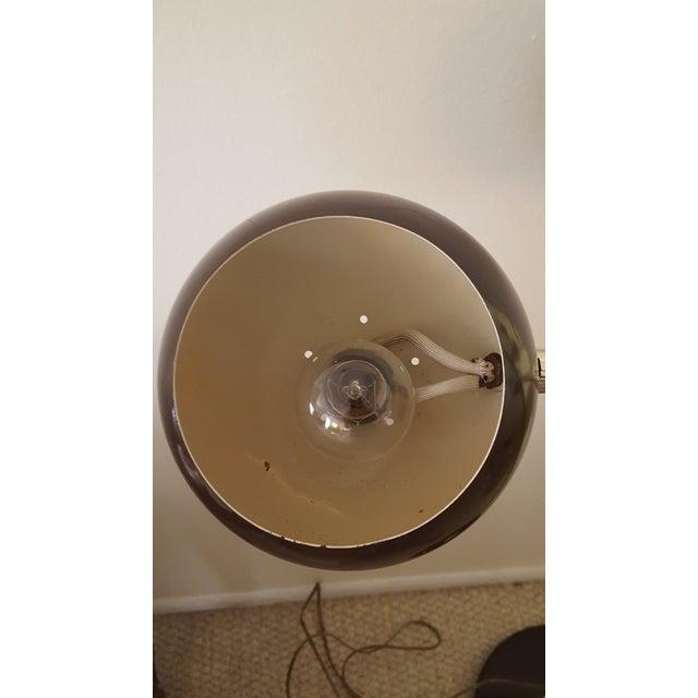 Mid Century Orb Lamp: Mid-Century Modern Brown & Gold Orb Floor Lamp
