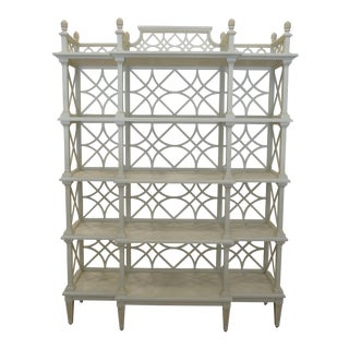 Chinese Chippendale Style Botany Etagere