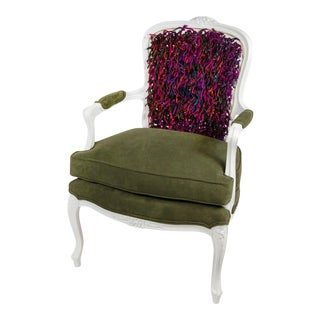"""Artsy"" Tasseled Bergere Chair"