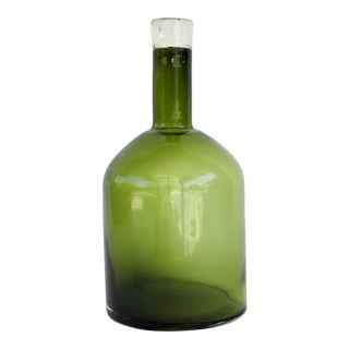 Vintage Green Demijohn Bottle
