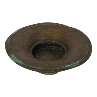 Large Antique Hand-Hammered Copper Bowl
