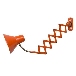 Hala Zeist Orange Enameled Scissor Wall Lamp