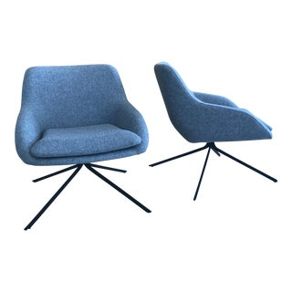 Palau Blue Swivel Chairs - A Pair