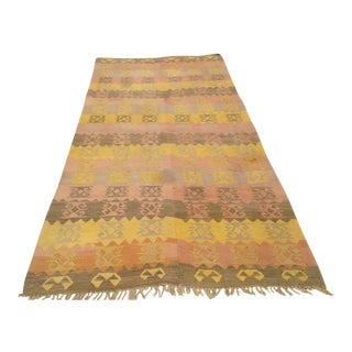 Vintage Turkish Kilim Rug - 4′9″ × 9′9″