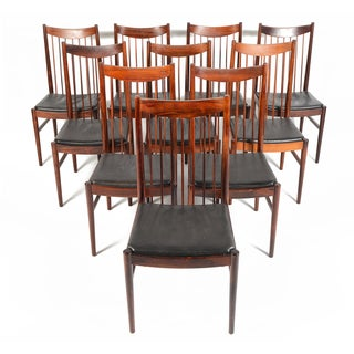 Arne Vodder Rosewood Dining Chairs - Set of 10