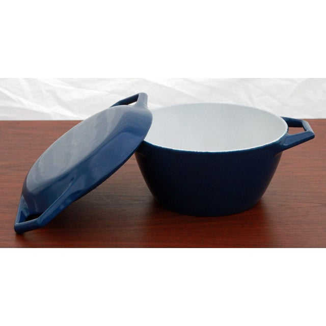 Vintage Blue Michael Lax for Copco Danish Modern Cast Iron Dutch Oven - Image 5 of 8