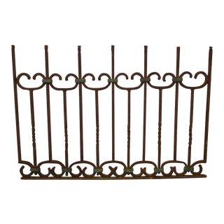 Wrought Iron Copper Fence Prop
