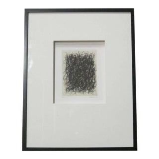 Abstract Black And Cream Etchings By French Artist Renaud Allirand