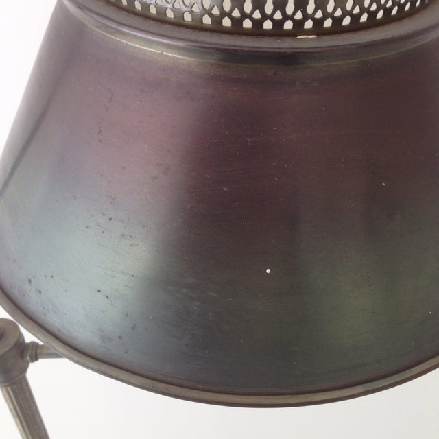 Image of Bronze Colored Tole Floor Lamp