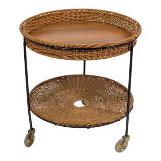 Wicker and Iron Trolly