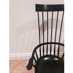Image of Custom Black Windsor Chairs - Pair