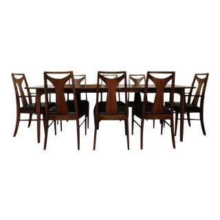 Mid-Century Modern Kent Coffey Perspecta Dining Table & 8 Chairs Set