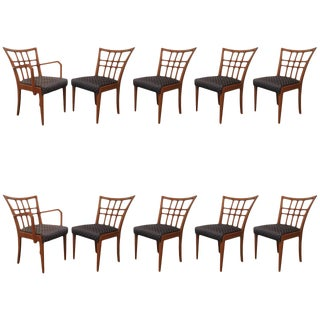 Paul Frankl Dining Room Chairs - Set of 10