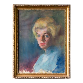 Portrait of a Blond Lady Painting