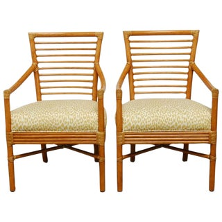 Bamboo Armchairs by Christopher Roy for McGuire
