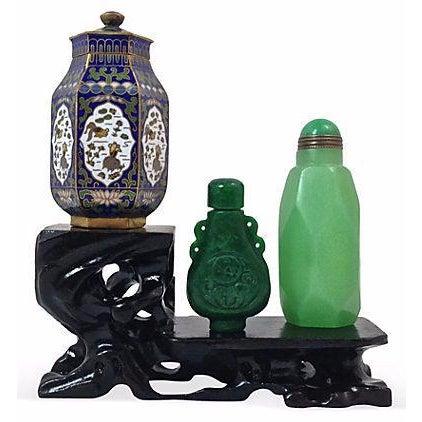Image of Jade & Jadeite Snuff Bottles & Jar - Set of 4