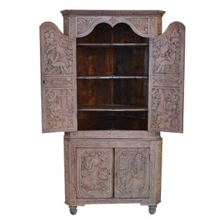 Early 19th Century Dutch Corner Cabinet