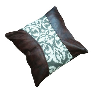 Brown Leather Pillow