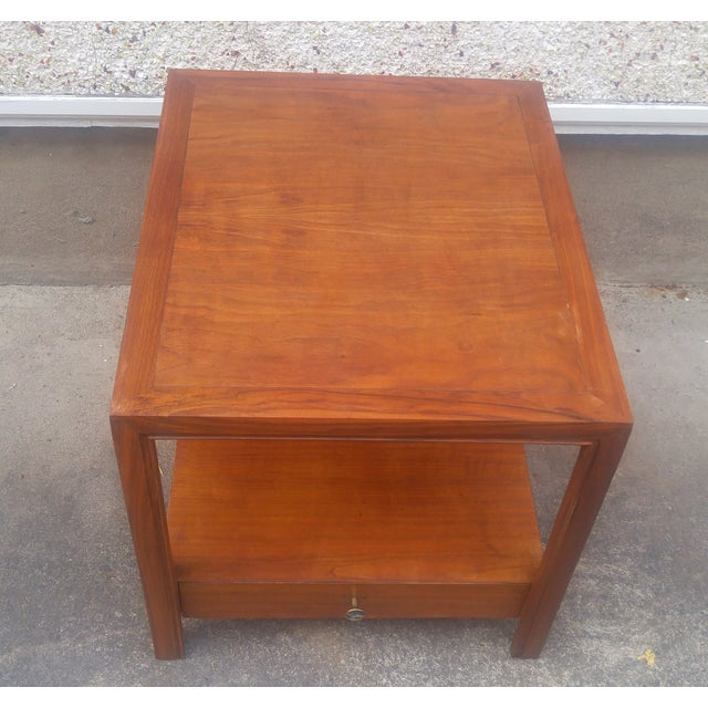 baker furniture vintage 1950s walnut end table chairish