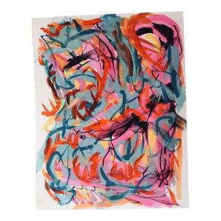 "Erik Sulander ""Abstract #34"" Acrylic & Ink Wash Painting"