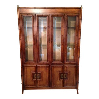 Stanley Asian Style Wood China Cabinet