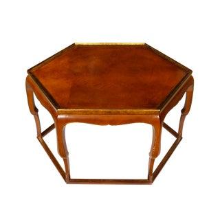 Lacquer & Gilt Hexagonal Cocktail Table
