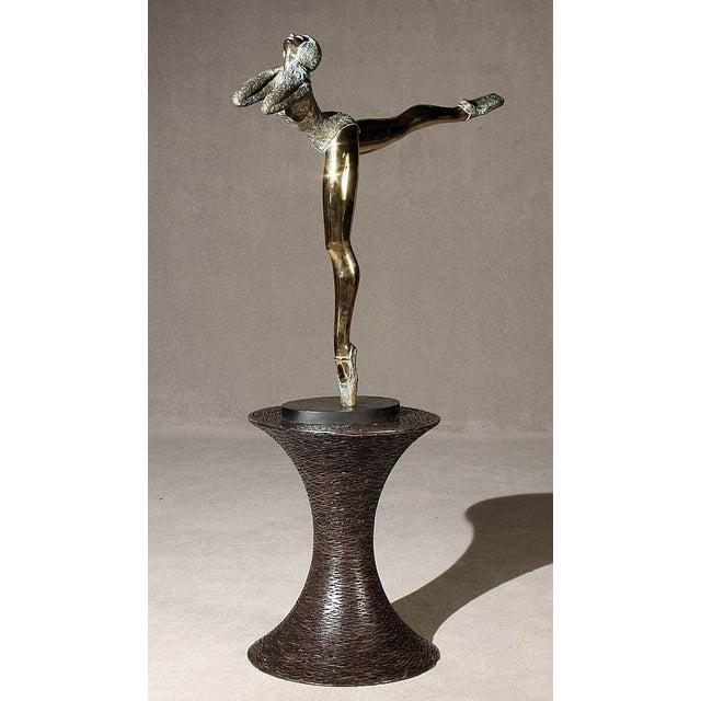 Pasargad NY Bronze Ballerina Statue - Prince Monyo Mihailescu-Nasturel Herescu (Romanian B. 1926) - Image 2 of 9
