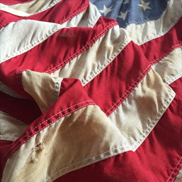 Vintage Weathered American Flag - Image 4 of 7