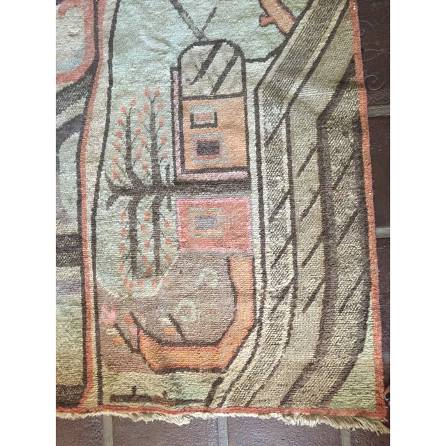 Mid-Century Turkish Landscape Motiff Rug - 5′2″ × 8′8″ - Image 4 of 10