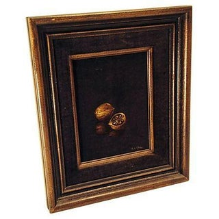 Walnut Painting on Velvet