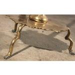 Image of Tibetan Hammered & Pierced Brass Dragon Floor Lamp