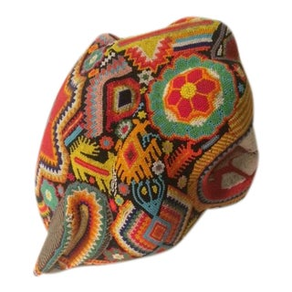 Central American Beaded Jaguar Head