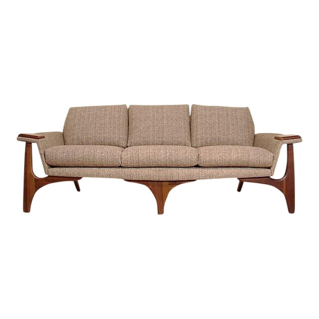 1960s Adrian Pearsall Craft Associates Mid-Century Danish Modern Sofa - Image 1 of 9