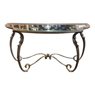 Burnished Gold Vintage Console Table