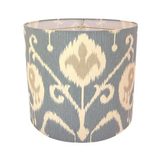 Large Magnolia Home Ikat Blue Custom Drum Lamp Shade