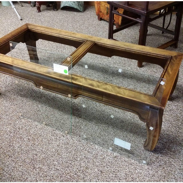 Mid-Century Chinese Classic Wood Coffee Table - Image 5 of 7