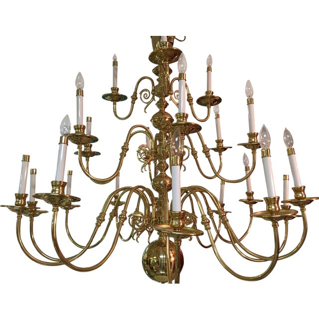 Image of Magnificent 4' Candelabra Style Chandelier