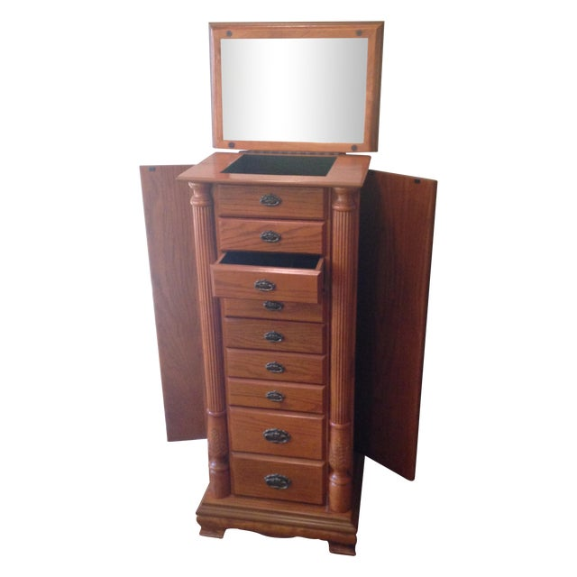 Emily Powell Wood Jewelry Cabinet - Image 1 of 8