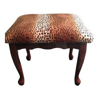 Leopard Mahogany Bench