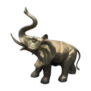 Vintage Brass Elephant Statue