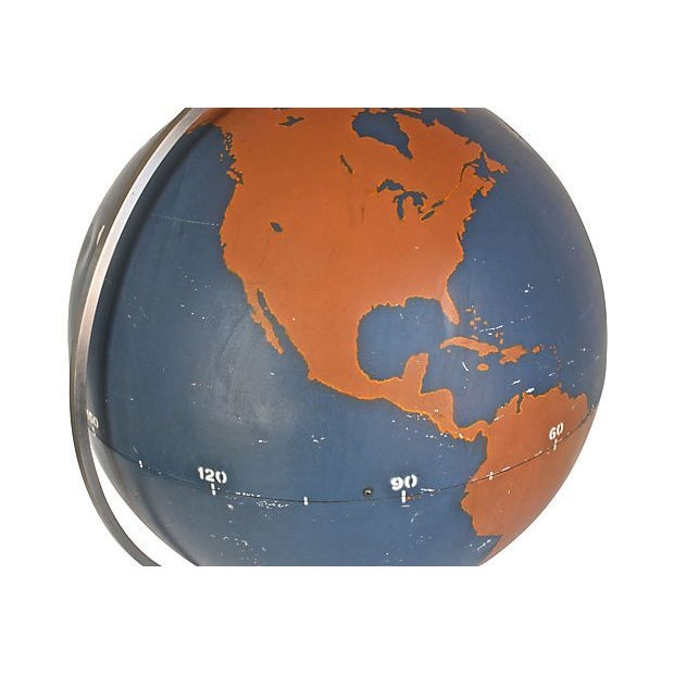 Image of A.J. Nystrom & Co. 1940s Large Military Globe