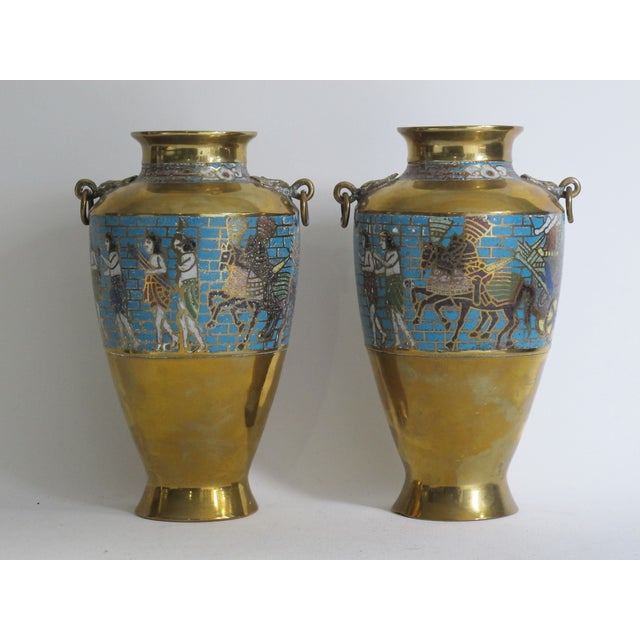 Egyptian Revival Urns - A Pair - Image 2 of 9