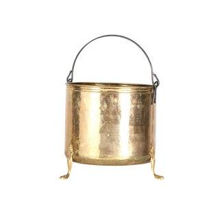 Brass Ice Bucket with Lion Paw Feet