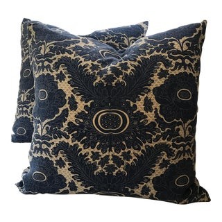 Raoul Textile Blue & White Pillows - A Pair
