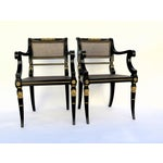Image of Baker Mahogany Caned Chairs - a Pair