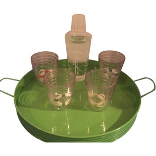 Vintage Tervis Tumbler Set With Shaker & Tray